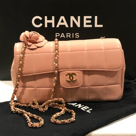 ac67f4715c5fca CHANEL Bags | Quilted Mini Flap Pink Crossbody Bag | Poshmark